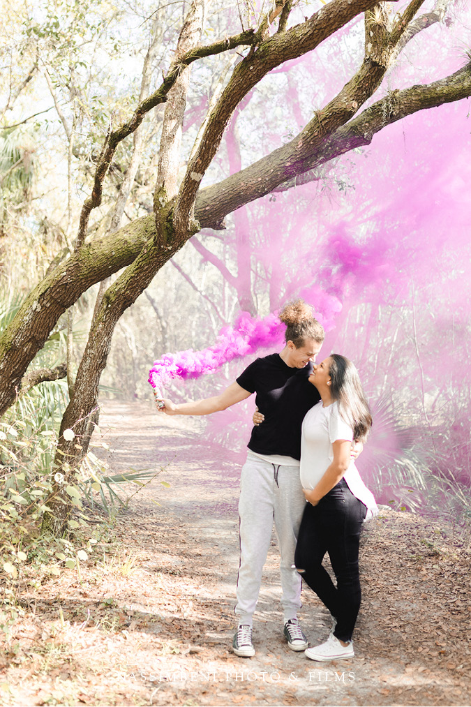 Smoke Bomb Gender Reveal