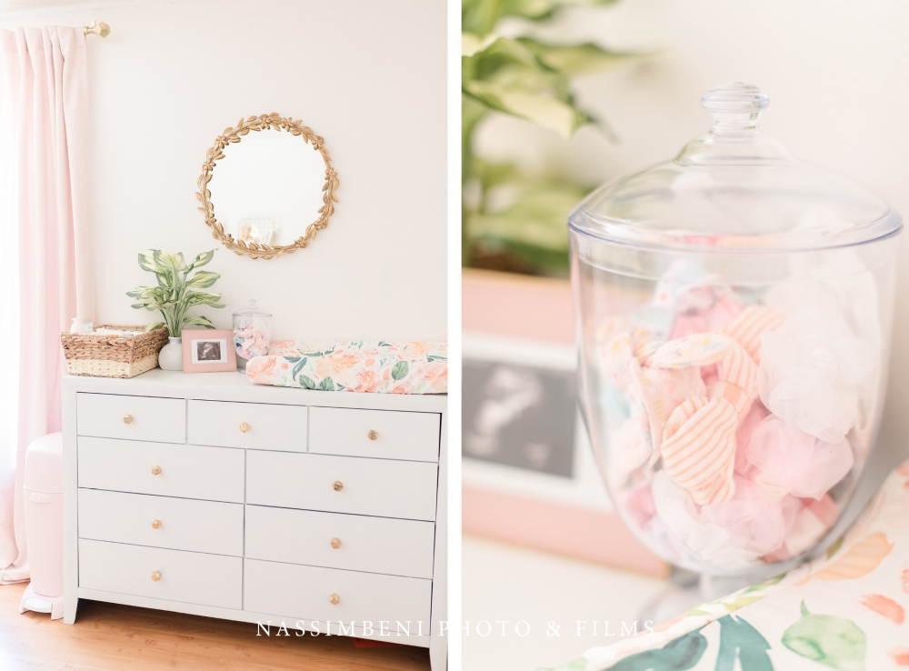 pink floral nursery decor