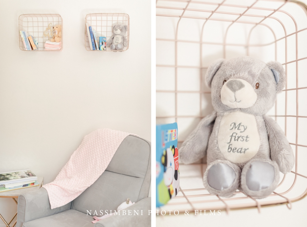 book corner in nursery decor